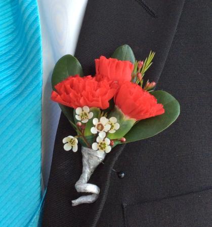 Mini Carnation (Red) Boutonniere