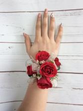 Mini Rose (Red) Wrist Corsage