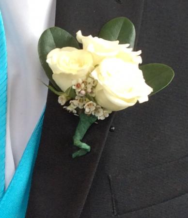 Mini Rose (White) Boutonniere