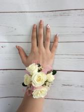 Mini Rose (White) Wrist Corsage
