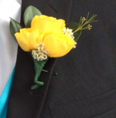 Mini Rose (Yellow) Boutonniere