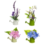 Mini Silk Florals in Watering Can Giftware