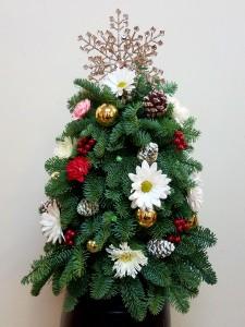 miniature christmas tree holiday arrangement - Miniature Christmas Tree