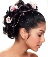 Miniature rose hair piece