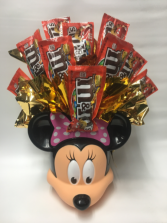 Minnie Mouse candy bouquet