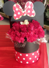Minnie Mouse Rose Bouquet Rose's and Carnations