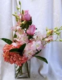 Miralago Pink Contemporary Vase Arrangement