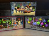 Mirrored Christmas Shelf Sitter