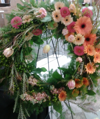 Miss you! Funeral Flowers Wreath