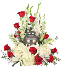 Missing You Urn Cremation Flowers   (urn not included)
