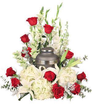 Missing You Urn Cremation Flowers   (urn not included)  in Port Dover, ON | Upsy Daisy Floral Studio
