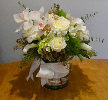 Misty Morning Flower Arrangement
