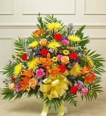 Mix Color Funeral Basket