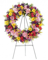 Mix Color Funeral Wreath