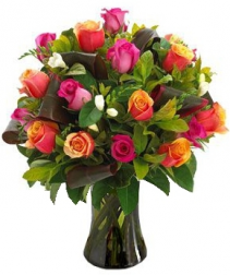 MIX  LUXURY  ROSES ARRANGEMENT