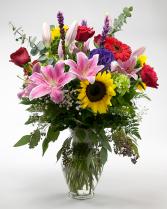 Mix of Color Vase Arrangement