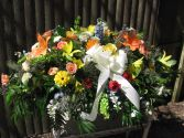 Mix of flowers Casket cover or Standing Spray