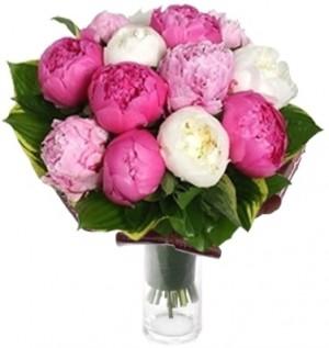 MIX PEONIES BOUQUET in Bethesda, MD | Ariel Bethesda Florist & Gift Baskets