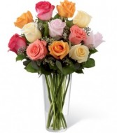 Mix Roses Fresh Arrangement