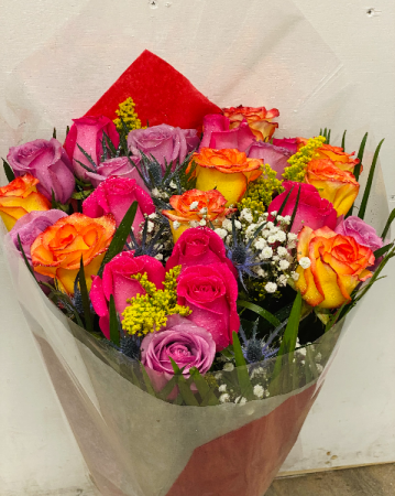 Mix roses in a bouquet Birthday