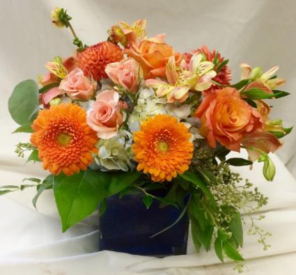 Mixed Blues Fresh Floral Design