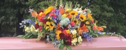 Mixed Casket Piece Fresh Funeral Flowers