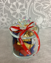 Mixed Chocolates in decorative glass keepsake  Mixed Chocolates