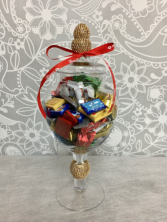 Mixed Chocolates in Glass Keepsake Vase  Mixed Chocolates in glass keepsake