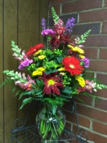 mixed colorful flowers