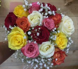 Mixed Colour Rose Bouquet  in Osoyoos, BC | POLKA DOT DOOR