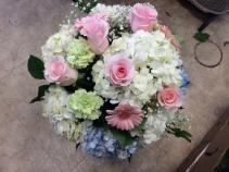 Mixed colours of flowers in vase  Vase arrangement