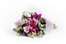 Mixed Cut Flower Wrapped Bouquet