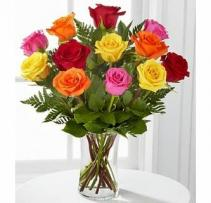 Mixed Dozen Roses