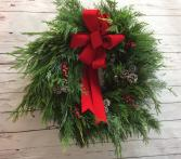 Mixed Evergreen Holiday Wreath
