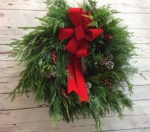 Mixed Evergreen Holiday Wreath