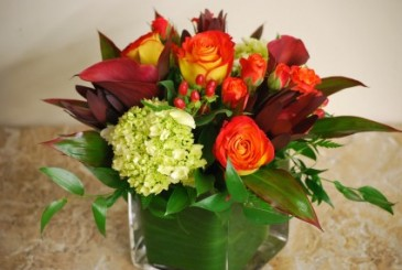 Mixed Fall Vased Arrangement