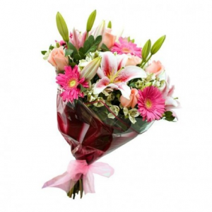 Mixed floral bouquet  Wrapped bouquet in Thunder Bay, ON | GROWER DIRECT - THUNDER BAY