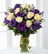 JB 13-Mixed flower arrangement in a tall vase (flowers and colors may vary)
