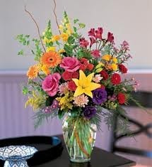 B 11 Mixed Flower Arrangement In A Vase Flowers And Colors May Vary