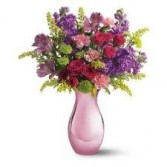 B 7-Mixed flower arrangement in a vase