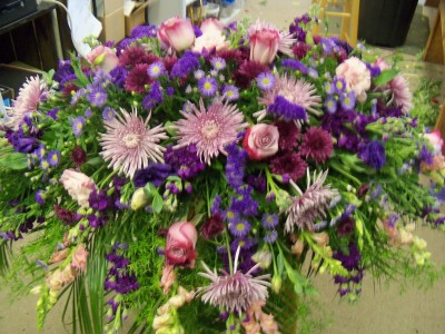 Mixed flower Casket Blanket