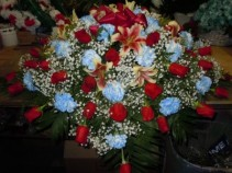 Mixed Flower (C14) Casket Spray