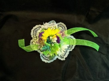 Mixed Flower Childs Wristlet 13 yr or younger