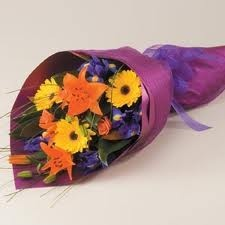 g 2 mixed flower presentation bouquet flowers and colors may vary