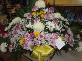 Mixed Flower (TB 18) Funeral Basket