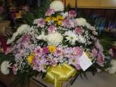 Mixed Flower (TB 18) Funeral Basket