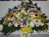 Mixed Flower (TB 37) Funeral Basket