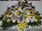 Mixed Flower (TB 37) Funeral Basket