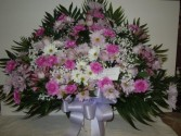 Mixed Flower (TB35) Funeral Basket