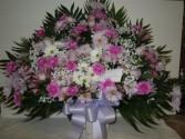 Mixed Flower (TB35) Funeral Basket